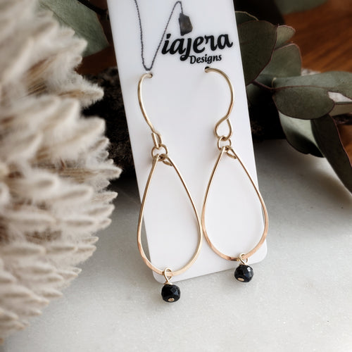 Teardrop Earrings | Sapphire | 14k Gold Fill