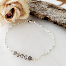 Load image into Gallery viewer, Dainty Bracelet | Labradorite | Sterling Silver