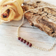 Load image into Gallery viewer, Dainty Bracelet | Ruby | Sterling Silver