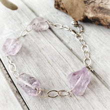 Load image into Gallery viewer, Raw Crystal Bracelet | Amethyst | Sterling Silver