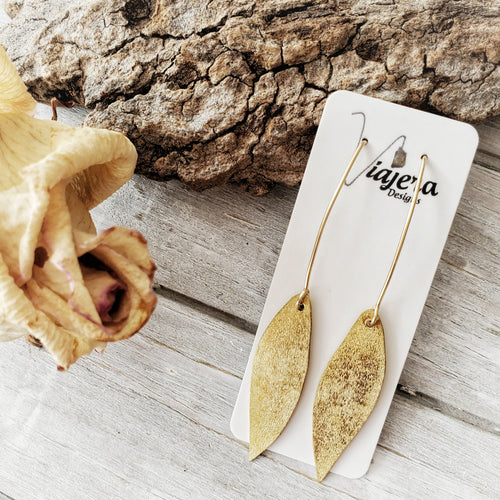 Gum Leaf Earrings | Gold Fill | Brass