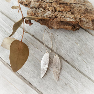 Gum Leaf Earrings | Sterling Silver