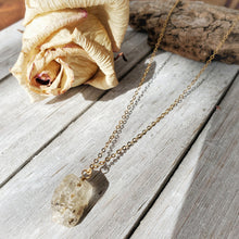 Load image into Gallery viewer, Raw Crystal Pendant | Golden Topaz | 14k Gold Fill