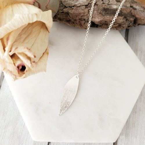 Gum Leaf Necklace | Sterling Silver