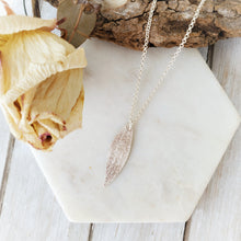 Load image into Gallery viewer, Gum Leaf Necklace | Sterling Silver