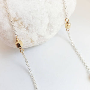 Mixed Metal Necklace | 14k Gold Fill | Sterling Silver