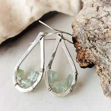 Load image into Gallery viewer, Teardrop Earrings | Aquamarine | Sterling Silver