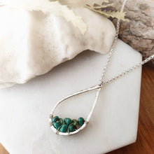 Load image into Gallery viewer, Teardrop Pendant Necklace | Turquoise | Sterling Silver