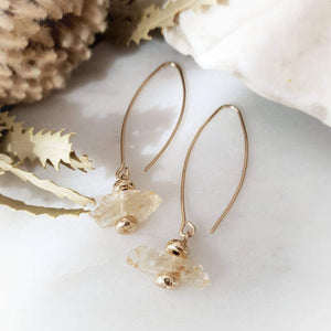 Topaz Earrings | Golden Topaz | 14k Gold Fill