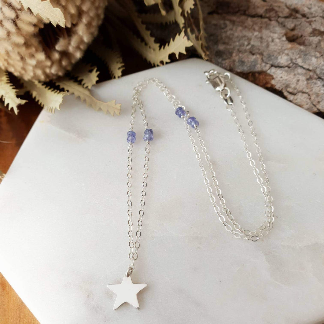 Star Necklace | Tanzanite | Sterling Silver