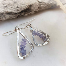 Load image into Gallery viewer, Geometric Earrings | Tanzanite | Sterling Silver
