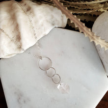 Load image into Gallery viewer, Triple Hoop Necklace | Rose Quartz | Sterling Silver