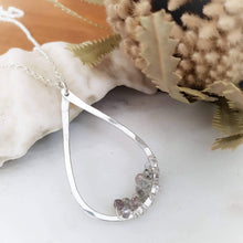 Load image into Gallery viewer, Teardrop Pendant Necklace | Sapphire | Sterling Silver