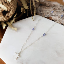 Load image into Gallery viewer, Star Necklace | Tanzanite | Sterling Silver