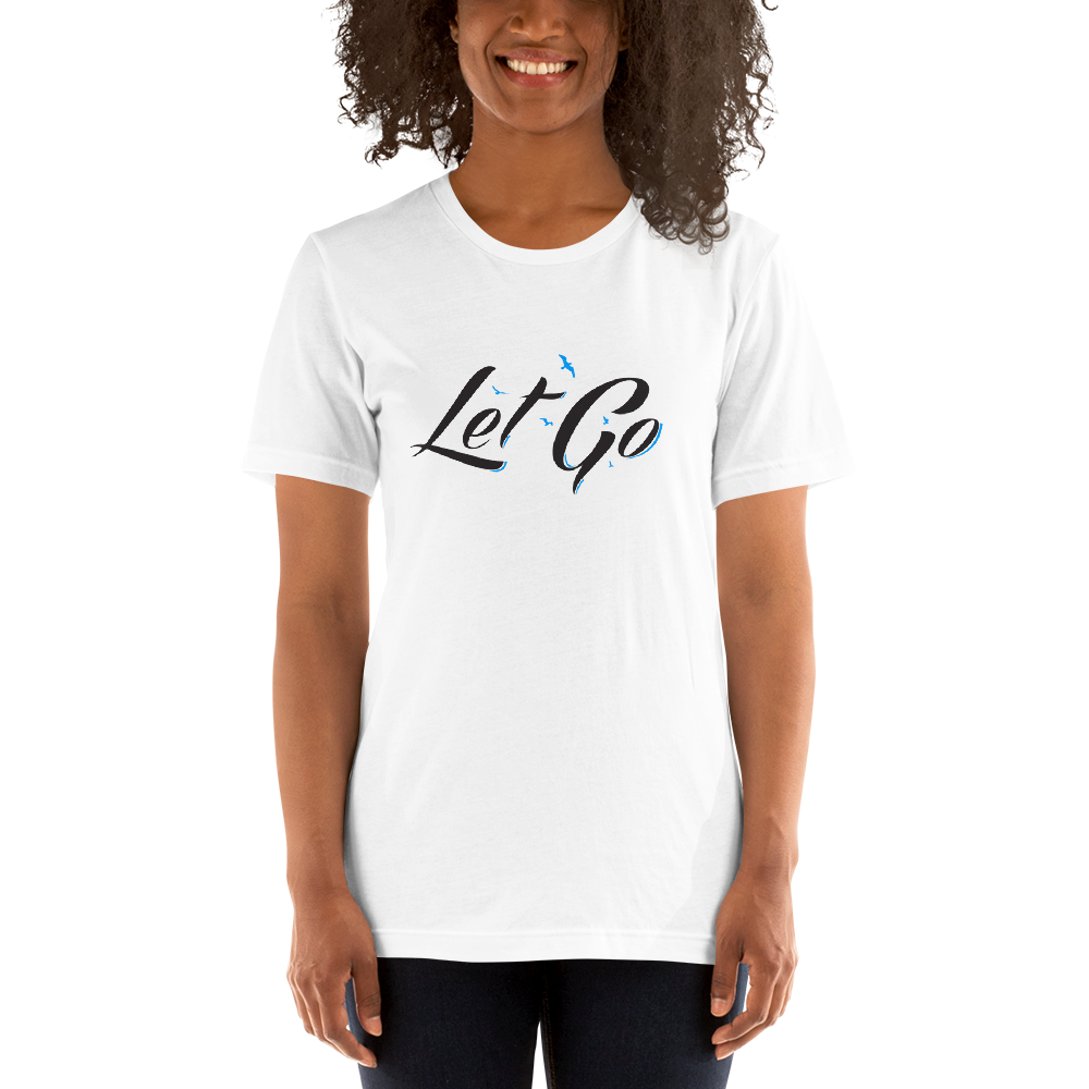Le Fly - Let Go Unisex T-Shirt-White-XS-JClay Cares