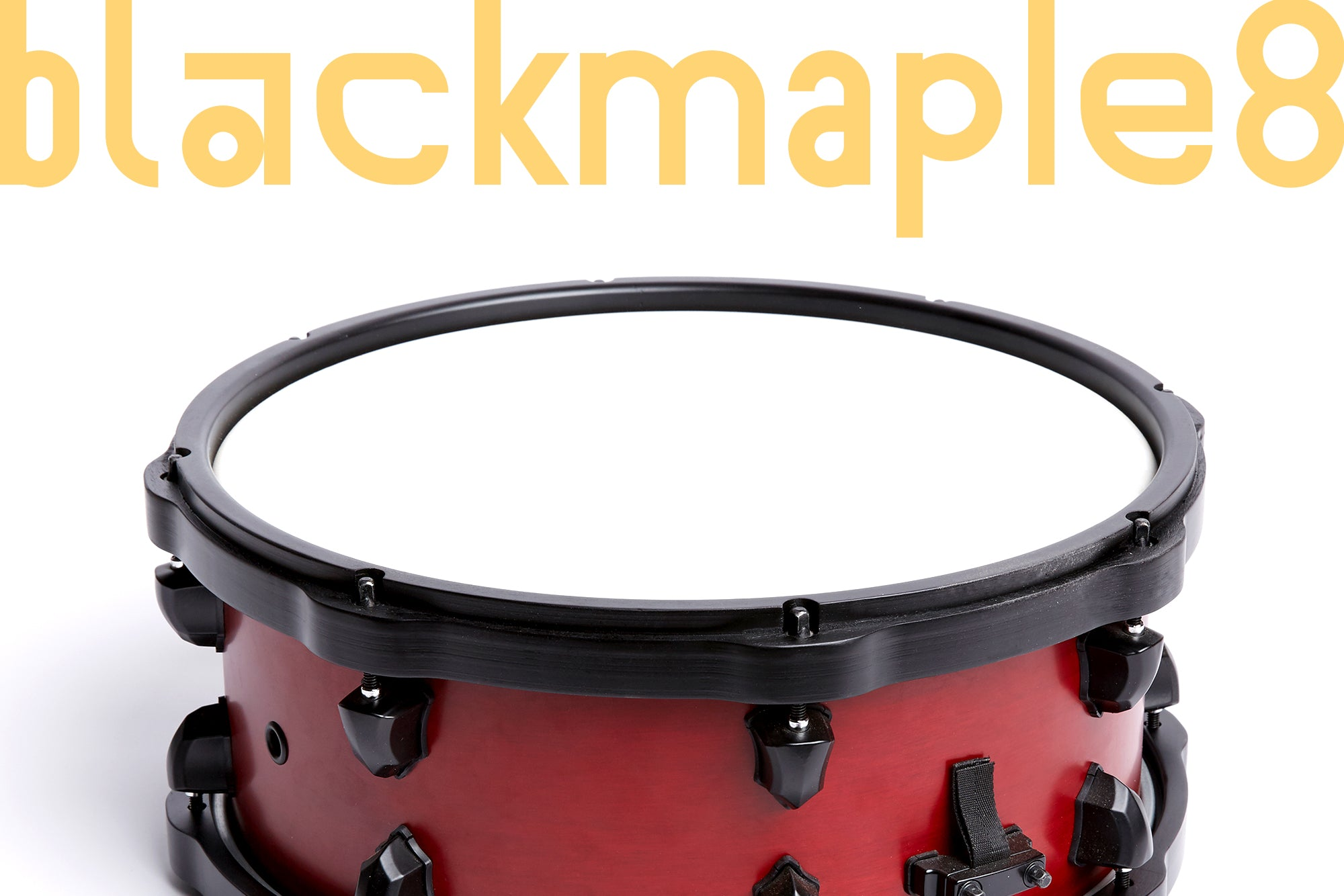 BLACK Maple Wooden Snare Drum Hoop 14'x8 - SIGU drums