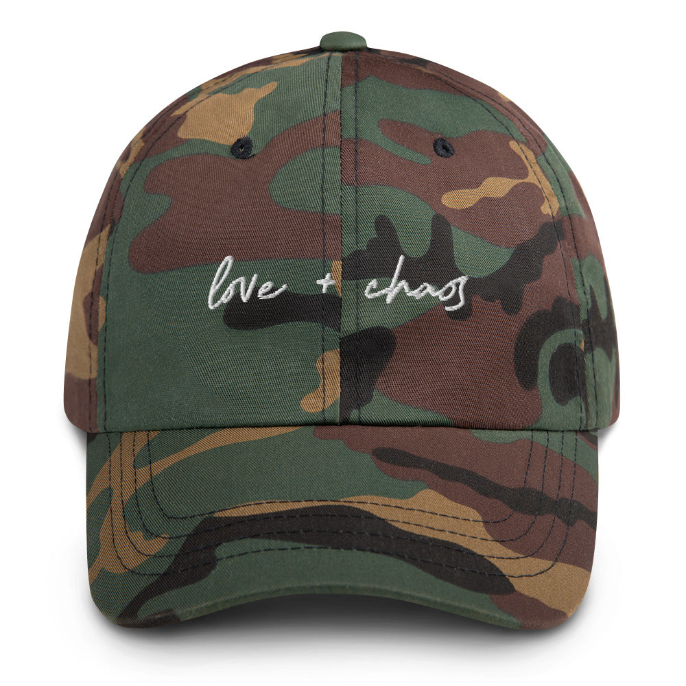Love + Chaos Camo Dad hat