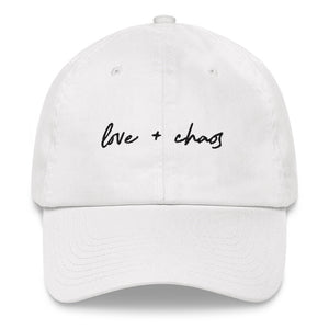 Love + Chaos Dad Hat tbarchive.myshopify.com