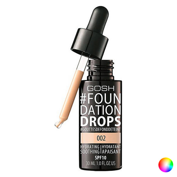 Fluid Makeup Basis Foundation Drops Gosh Copenhagen SPF 10 (30 ml)