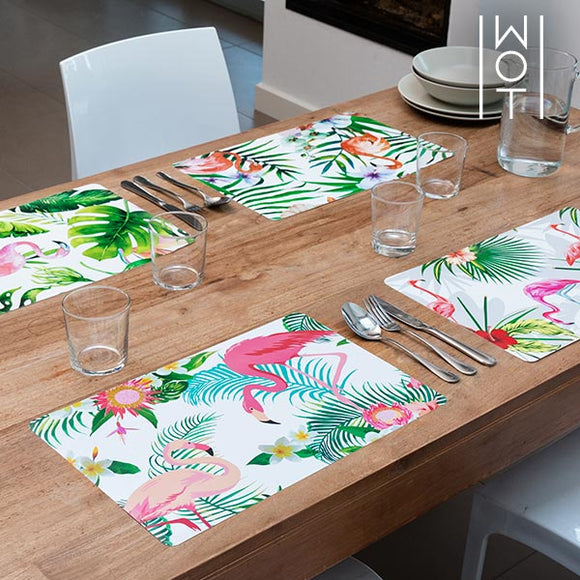 Tropical Wagon Trend Flamingo Tischsets