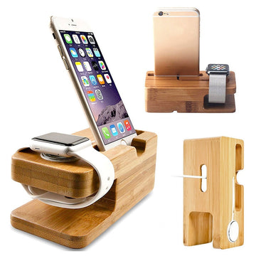 Bamboo iPhone / Apple Watch Charging Stand