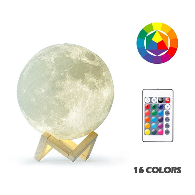 3D Print Moon Night Light - Perfect gift for the new year
