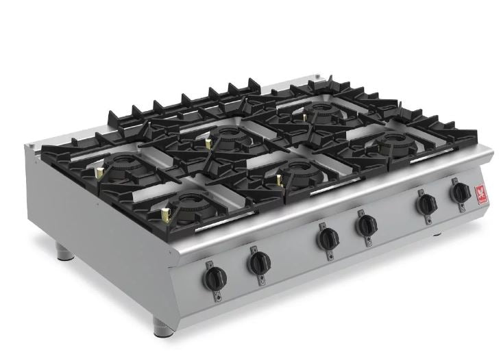 Falcon Six Burner Countertop Boiling Hob Gas G90126
