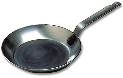 Bourgeat Black Steel Round Frying Pan