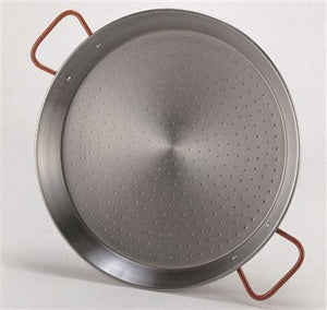 Bourgeat Polished Steel Paella Pan with Handles