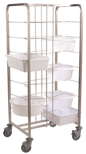 Matfer Dough Container Trolley 16 Shelves