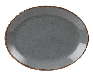 "Porcelite Seasons Storm Oval Plate 30cm/12"" (Case Size 6)"