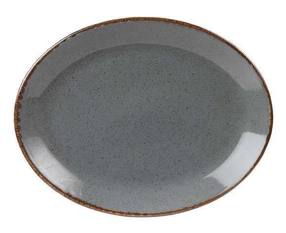 Porcelite Seasons Storm Oval Plate 30cm/12