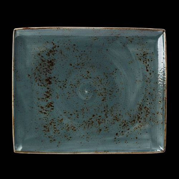 Steelite Craft Blue Rectangle Plate Two 33 x 27cm (Case Size 6)