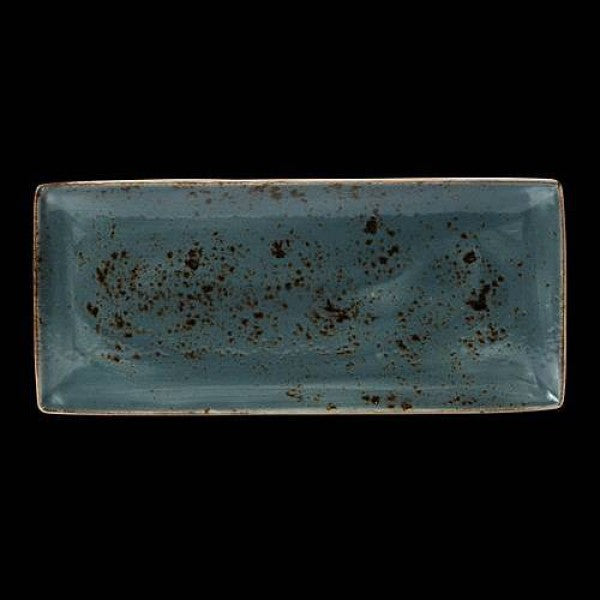Steelite Craft Blue Rectangle Plate Four 37 x 16.5cm (Case Size 6)