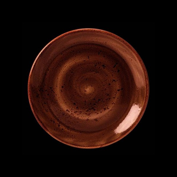 "Steelite Craft Terracotta Plate Coupe 25.5cm 10"""" (Case Size 24)"
