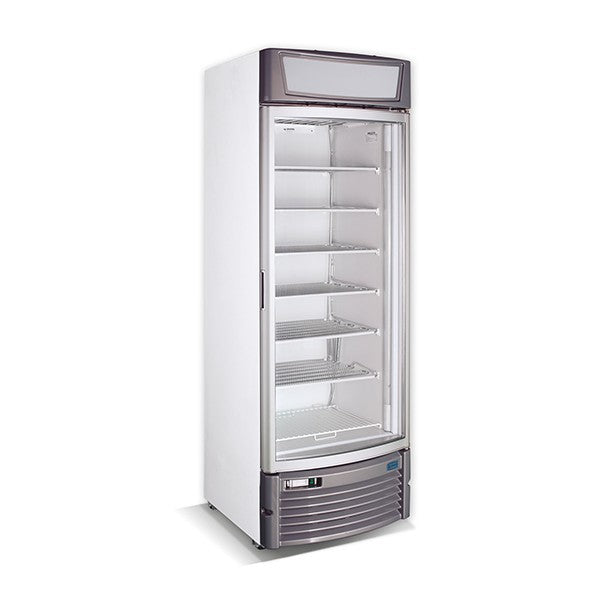 GDS400CV SINGLE GLASS CURVED DOOR FREEZER DISPLAY 425L