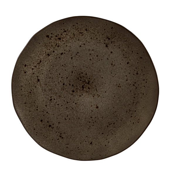 Rustico Black Ironstone Plate 31.5cm (Pack Of 4)