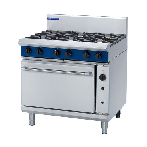 Blue Seal G56D 6 Burner Convection Oven Range - Cater-Connect