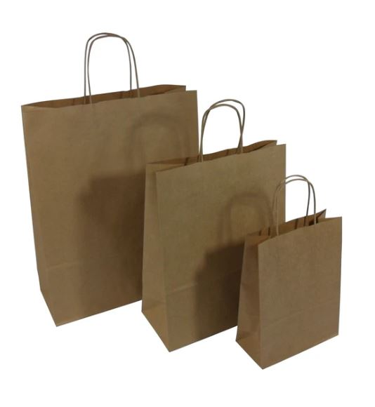 Brown Kraft Twist Handle Paper Carrier Bags