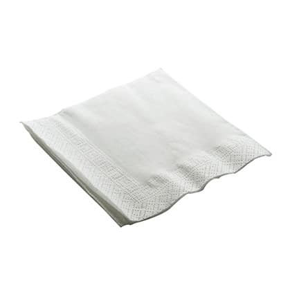 Recycled Cocktail Napkin 2ply – White – 250 x 250mm (6000 Per Case)