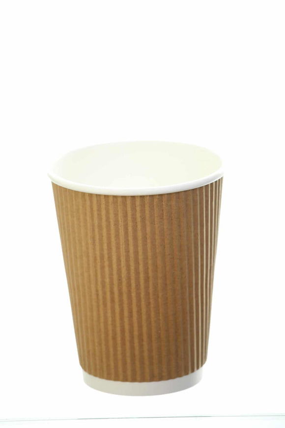 Revived 100% Recycled Ripple Cup – Kraft – 8oz/240ml