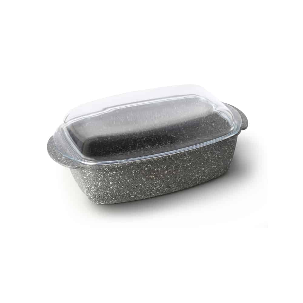 Rectangular Display Dish with Glass Lid 40×22.5x15cm