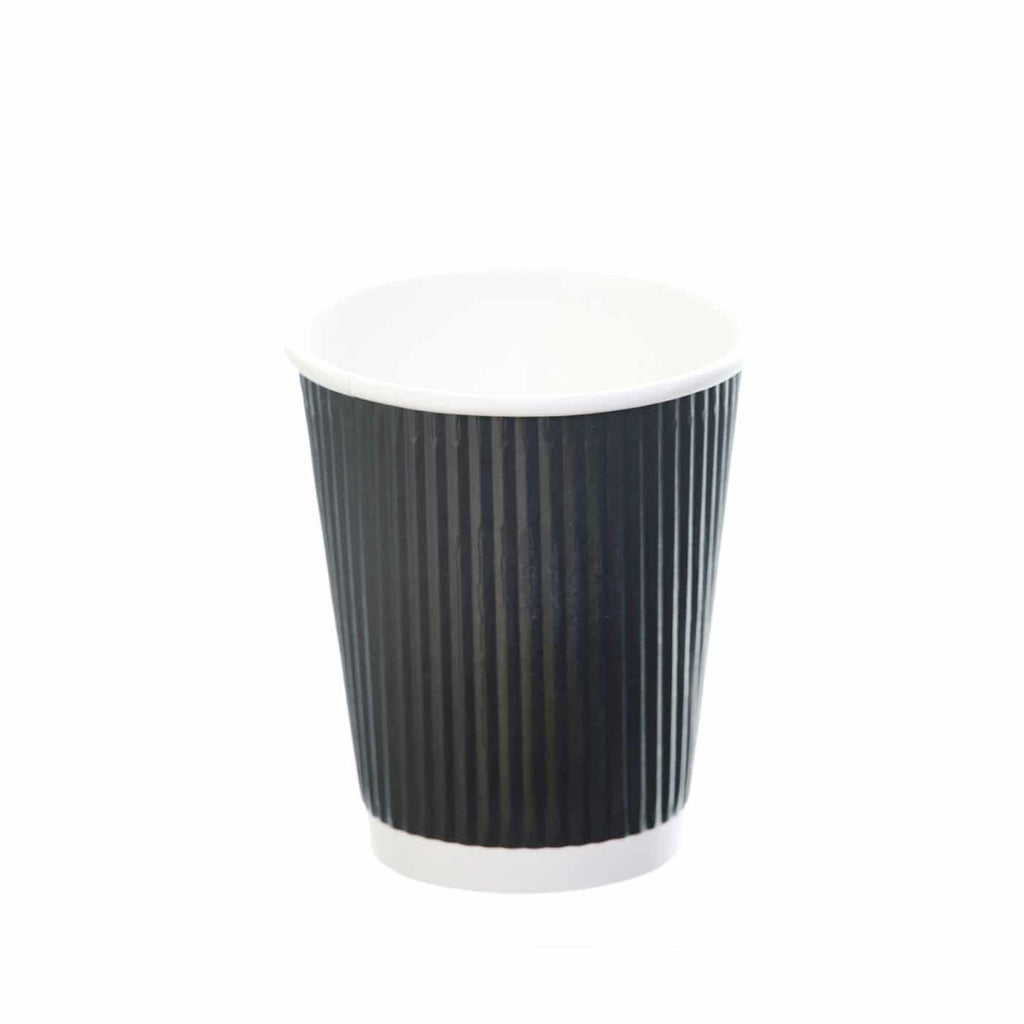 Revived 100% Recycled Ripple Cup – Black – 8oz/240ml
