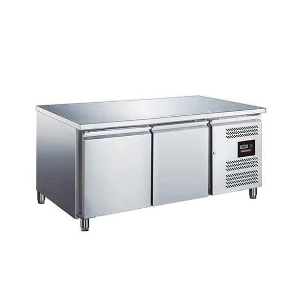 Blizzard SNC2 2 Door Low Height Snack Counter Fridge 214 Litres
