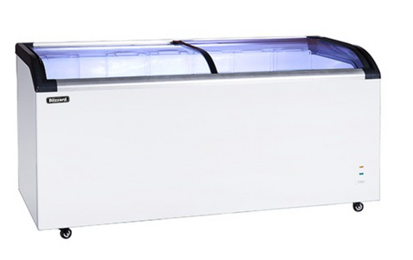 Blizzard BDF32 Curved Glass Lid Chest Freezer 320 Litres