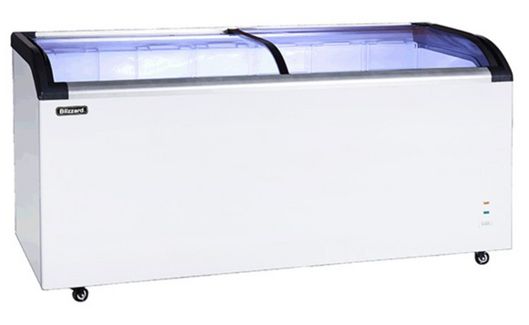 Blizzard BDF42 Curved Glass Lid Chest Freezer 420 Litres