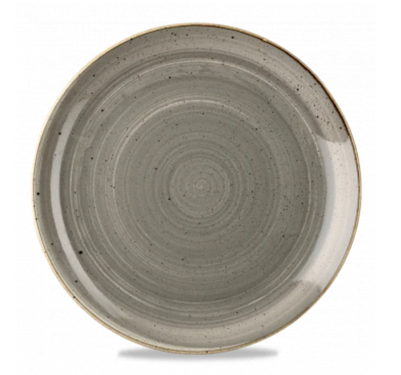 Churchill Stonecast® Peppercorn Grey Small Coupe Plate 16.50cm / 6.7