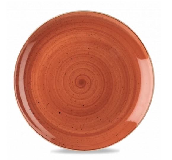 Churchill Stonecast® Spiced Orange Small Coupe Plate 16.50cm / 6.7