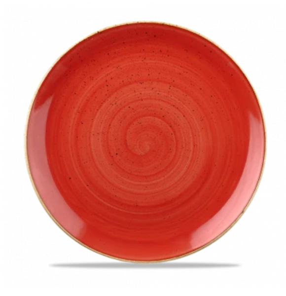 Churchill Stonecast® Cornflower Berry Red Coupe Plate 16.50cm / 6.7