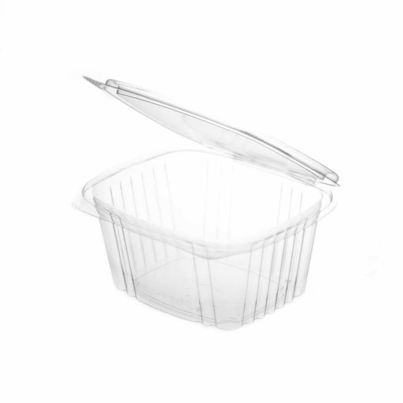 Compostable PLA Rectangular Hinged Food Container – 32oz / 1000ml